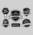 best seller and christmas sale badges vector image