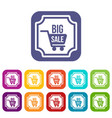 big sale sticker icons set vector image vector image