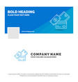 blue business logo template for credit card money vector image