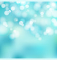 bokeh blue and white sparkling lights festive vector image vector image