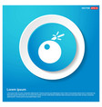 bomb icon abstract blue web sticker button vector image