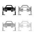car lift car repair service concept car on fix vector image vector image