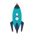 cartoon rocket icon image vector image vector image