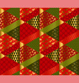 christmas elegant patchwork with simple patterns vector image vector image