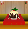 Christmas pudding on the table vector image vector image
