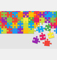colorful background puzzle jigsaw puzzle banner vector image vector image