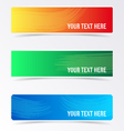 Colorful banners with brush strokes vector image vector image