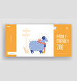 communication with animals landing page template vector image vector image