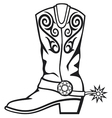 Cowboy boot vector | Price: 1 Credit (USD $1)
