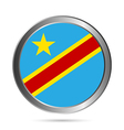 Democratic Republic of the Congo flag button vector image vector image