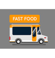 Fast food truck city car Food hipster truck auto vector image vector image