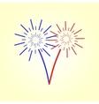Fireworks celebration vector image vector image