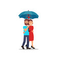 flat icon of lovely couple walking in vector image
