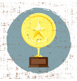 golden star achievement award with grunge texture vector image vector image