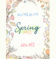 hand drawn spring card vector image vector image
