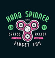 hand spinner emblem vector image vector image