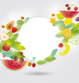 Healthy lifestyle Set of fruits on the white vector image vector image