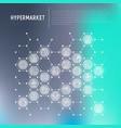 hypermarket concept in honeycombs vector image vector image