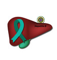 jade ribbon liver hepatitis b world hepatitis day vector image vector image