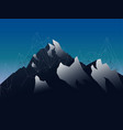 landscape mountains with shod and geometric lines vector image