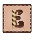 letter e candies vector image vector image