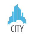 logo Blue City on the cloud vector image vector image