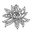 lotus flower icon on white background yoga symbol vector image vector image