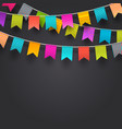 multicolored flags garlands vector image vector image