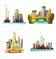 New York Downtown 2x2 Design Compositions vector image vector image