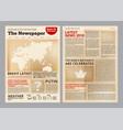 old newspaper vintage antique paper of magazine vector image