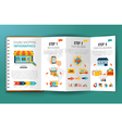 Online Shopping Infographics Leaflet vector image vector image
