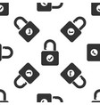 open padlock and check mark icon seamless pattern vector image vector image