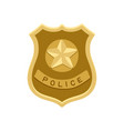 police badge icon isolated on white vector image vector image