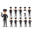 police officer policeman set vector image