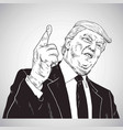 president donald trump youre fired cartoon vector image vector image