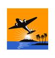 Propeller Airplane Retro vector image vector image