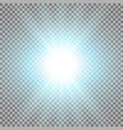 rays of light aqua color vector image vector image