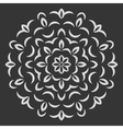 Round flower pattern on black background vector image