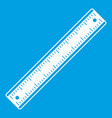 ruler icon white vector image vector image