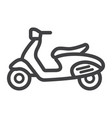 scooter line icon transport and vehicle vector image vector image