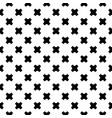 seamless crosses pattern black vector image vector image