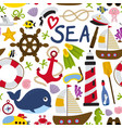 seamless pattern with nautical element vector image vector image