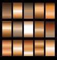 set metal gradients vector image