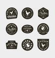 set of premium fresh chicken meat labels vector image vector image