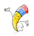 smiling cartoon lead pencil vector image vector image