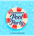 summer pool party bubbles background vector image