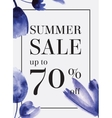 Summer sale up tu 70 per cent off Watercolor vector image