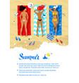 summer vacation design vector image vector image