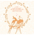 swallows invitation vector image vector image