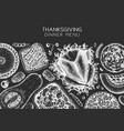 thanksgiving dinner menu design on chalkboard vector image vector image